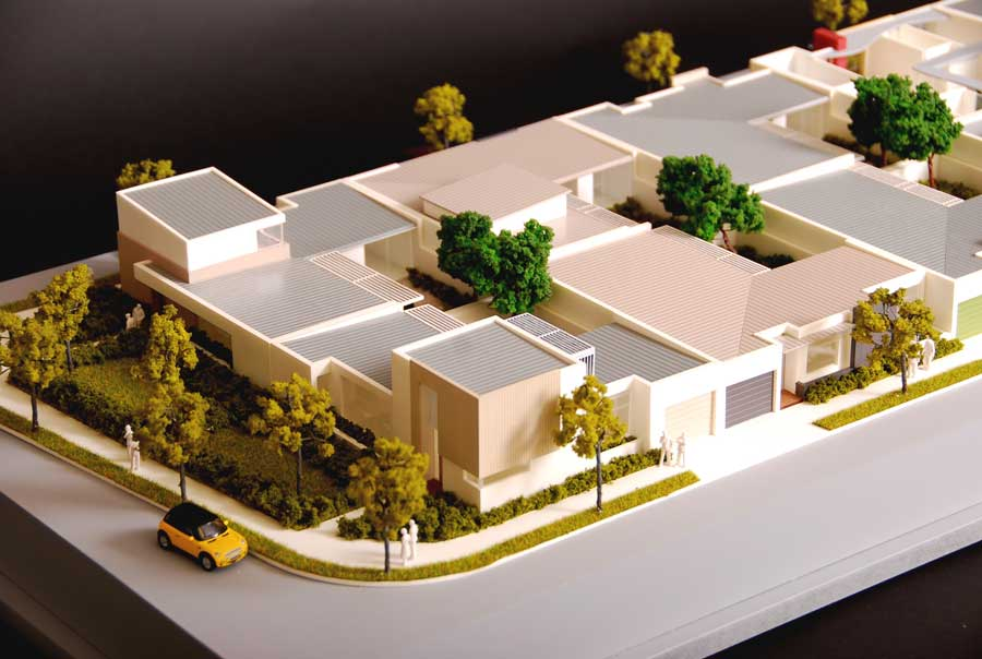 colour architectural model of residential homes kanwall