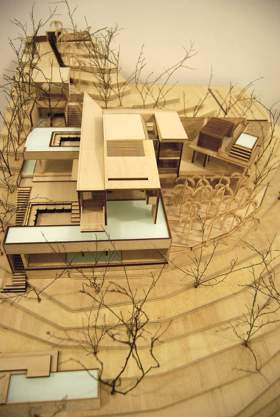 timber architectural model of house hamilton